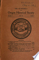 The Quarterly of the Oregon Historical Society Book PDF