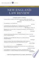 New England Law Review: Volume 48, Number 1 - Fall 2013