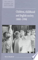 Children Childhood And English Society 1880 1990