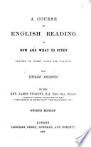 A course of English reading Book PDF