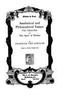 Aesthetical and philosophical essays  The Ghost Seer and The sport of destiny