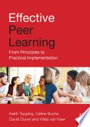 Effective Peer Learning