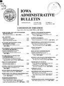 Iowa Administrative Bulletin