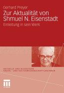 Zur Aktualität von Shmuel N. Eisenstadt