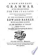 Nuova e facile grammatica della lingua inglese
