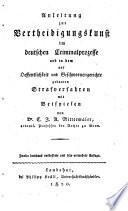 Anleitung zur Vertheidigungs-Kunst im Criminal-Prozesse
