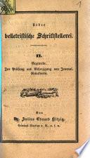 Ueber belletristische Schriftstellerei