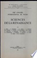 Sciences de la Renaissance