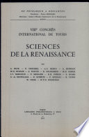 Sciences de la Renaissance