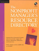The nonprofit manager s resource directory