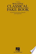 The Real Little Classical Fake Book  Songbook