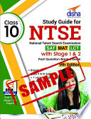 Sample  Study Guide for NTSE  SAT  MAT   LCT  Class 10 with Stage 1   2 Past Question Bank ebook 9th Edition