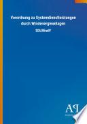 Verordnung zu Systemdienstleistungen durch Windenergieanlagen