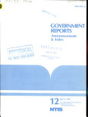 Government Reports Announcements & Index