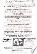 A Estrella dalva  a sublimissima e sapientissima mestra de Santa Igreja     Santa Theresa de Jesus