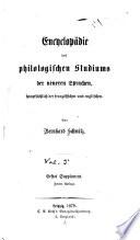 Encyclop  die des philologischen studiums der neueren sprachen  haupts  chlich der franz  sischen und englischen      Die litteratur der franz   sisch englischen philolgie