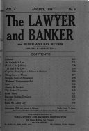 The Lawyer and Banker and Bench and Bar Review