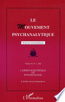 L'esprit scientifique en psychanalyse