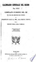 Calendario generale del Regno pel     compilato d ordine del Re per cura del Ministero dell interno