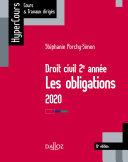 Droit Civil 2e Ann E Les Obligations 2020 12e D
