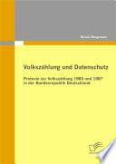 """Volksz""""hlung und Datenschutz"""