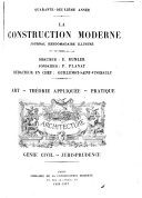 La Construction moderne