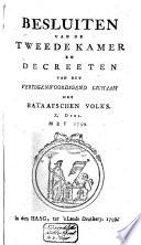 Besluiten van de Tweede Kamer en decreeten van het Vertegenwoordigend Lichaam des Bataafschen Volks
