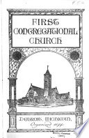First Congregational Church Order Of Worship And Calendar Collection : ...