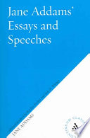 Jane Addams's Essays and Speeches on Peace