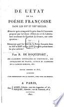 illustration De l'état de la poésie françoise dans les XIIe et XIIIe siècles, Ed., augmentée d'une dissertation sur la chanson, chez tous les peuples