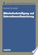 Mitarbeiterbeteiligung und Unternehmensfinanzierung