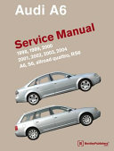 Audi A6 C5 Service Manual 1998 1999 2000 2001 2002 2003 2004 A6 Allroad Quattro S6 Rs6