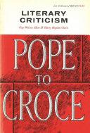 Literary Criticism  Plato to Dryden