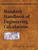 Standard Handbook of Engineering Calculations