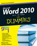 Word 2010 All in One For Dummies