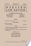 Harvard Law Review  Volume 129  Number 2   December 2015
