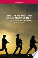 European Military Crisis Management