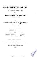 Malerische Reise in einigen Provinzen des Osmanischen Reichs
