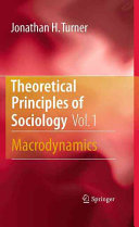 Theoretical Principles of Sociology  Volume 1