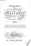 Gothaischer genealogischer Kalender