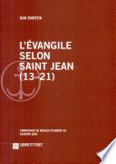 L evangile selon saint Jean  13 21