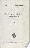 Psychologie der Intelligenz und des Denkens
