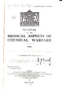 Manual Of The Medical Aspects Of Chemical Warfare 1926