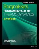 Borgnakke s Fundamentals of Thermodynamics
