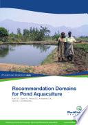 Recommendation Domains for Pond Aquaculture