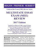 Rigos Primer Series Uniform Bar Exam Ube Review Multistate Essay Exam Mee 2017