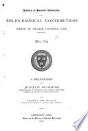 Catalogue of English and American Chapbooks and Broadside Ballads in Harvard College Library