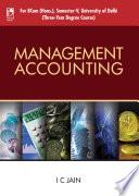 Management Accounting  For University of Delhi  Sem 5