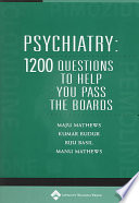 Psychiatry : types of questions seen in part 1...