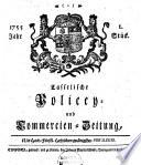 Casselsche policey- gelehrte und commercien-zeitung